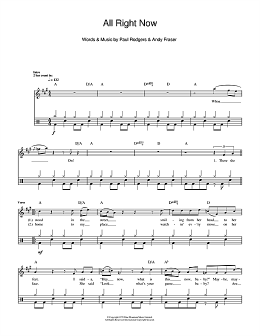 image regarding Free Printable Drum Sheet Music identify Cost-free All Specifically Currently Sheet Audio Notes, Chords Down load Printable Drums - SKU: 112282