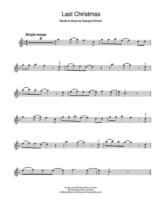 Last Christmas Chords.Wham Last Christmas Sheet Music Notes Chords Download Printable Violin Sku 113235