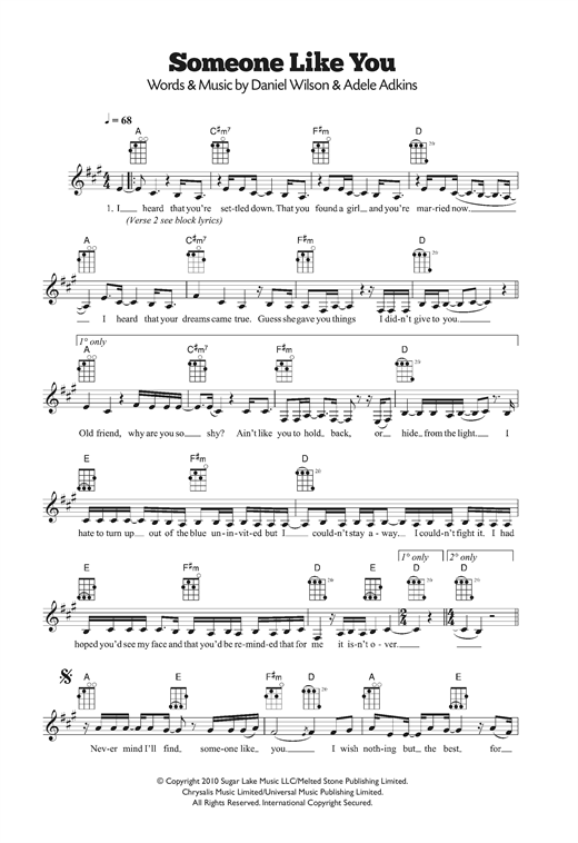 Adele Free Piano Sheet Music Someone Like You Best Music Sheet
