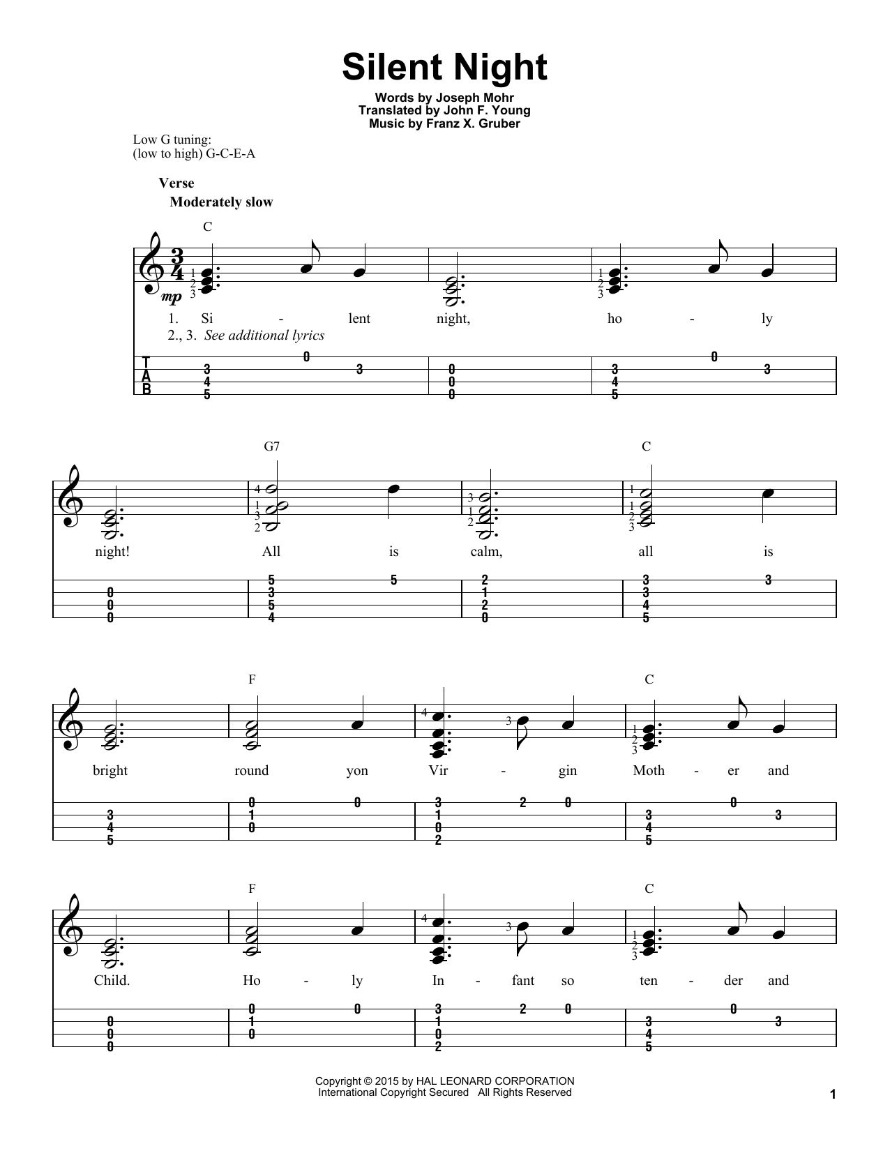 photo regarding Silent Night Lyrics Printable named Franz Gruber Peaceful Night time Sheet Audio Notes, Chords Obtain Printable Ukulele - SKU: 161426