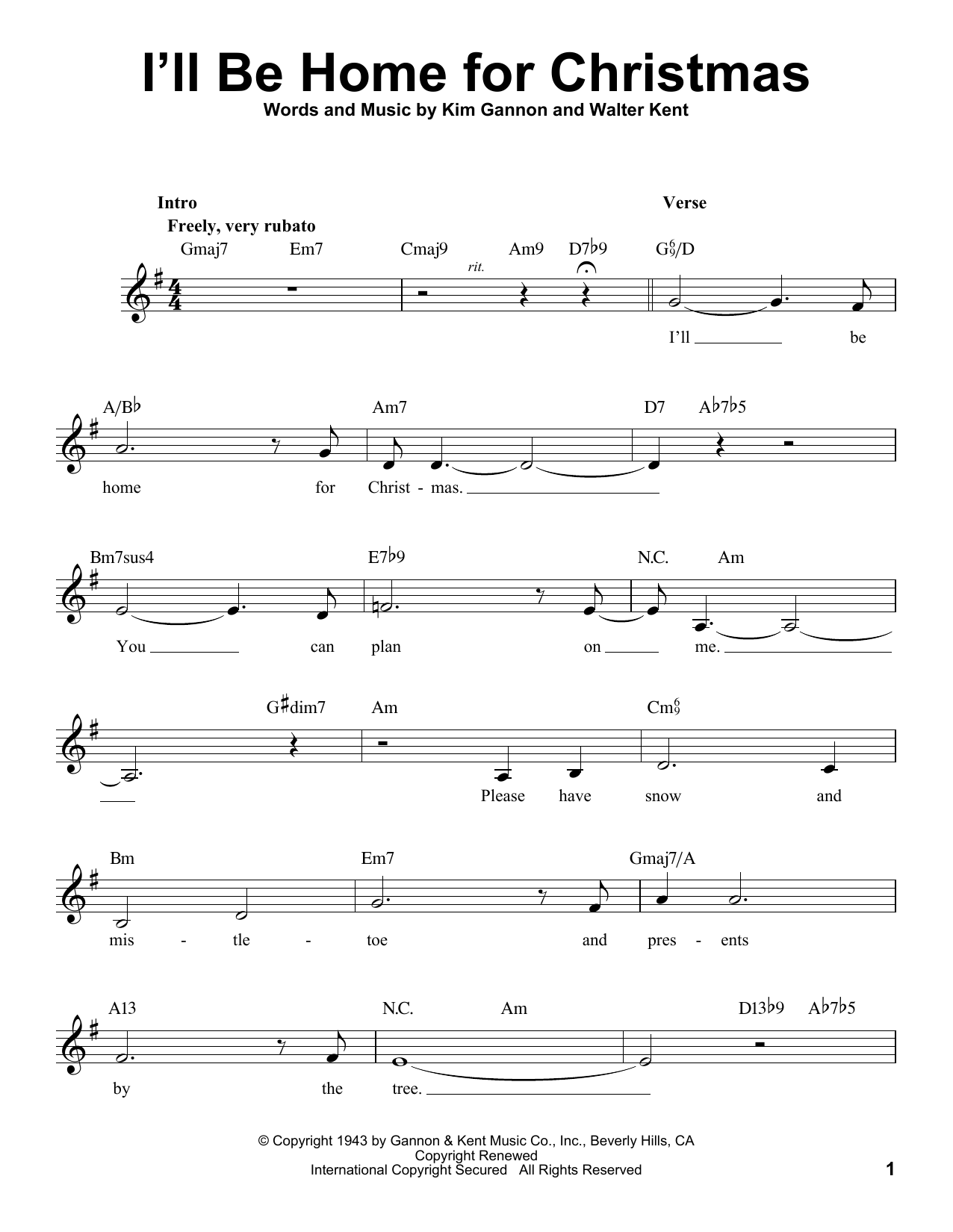 I\'ll Be Home For Christmas Sheet Music Notes, Michael Bublé Chords ...