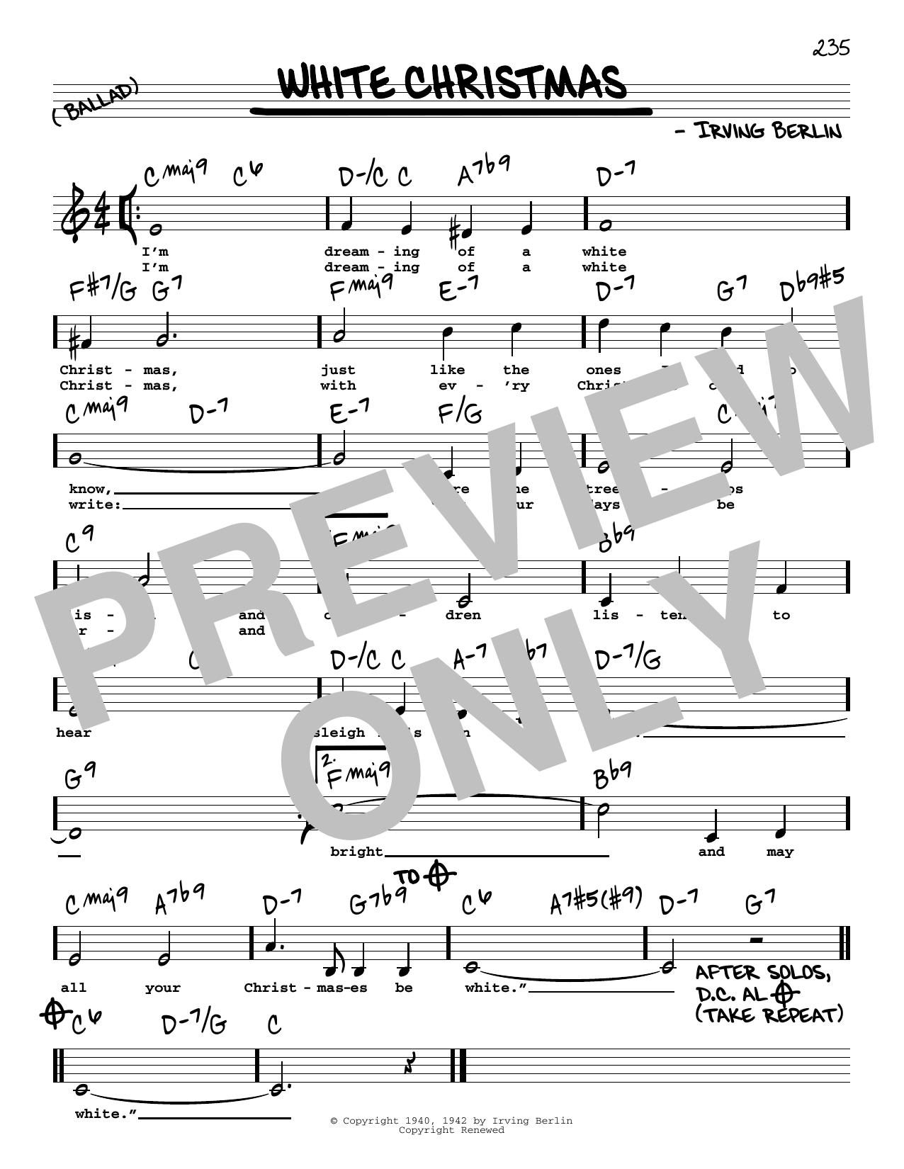 picture regarding Christmas Carol Lyrics Printable Booklet identify Irving Berlin White Xmas Sheet Songs Notes, Chords Obtain Printable Accurate Ebook Melody, Lyrics Chords - SKU: 197863