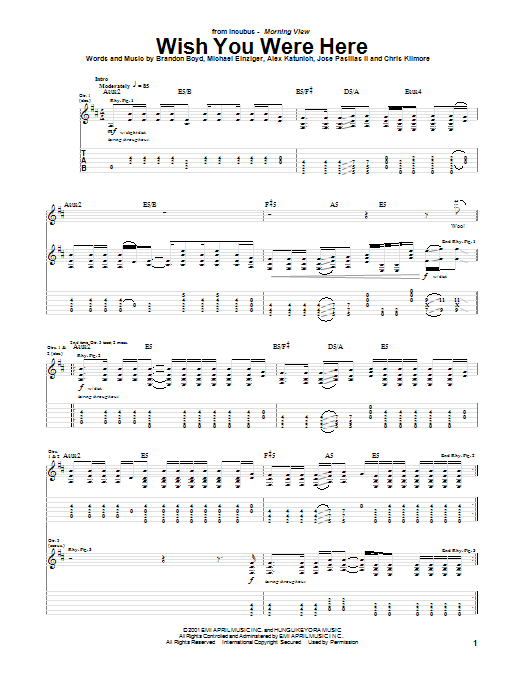 Wish you were here guitar tutorial