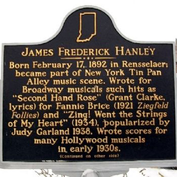 James F. Hanley, Second Hand Rose (from Second Avenue), Piano