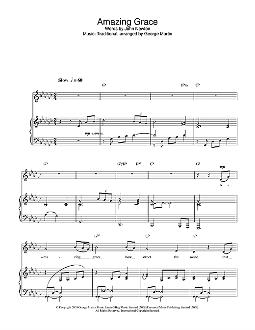Hayley Westenra 'Amazing Grace' Sheet Music Notes, Chords | Download  Printable Piano, Vocal & Guitar - SKU: 26549