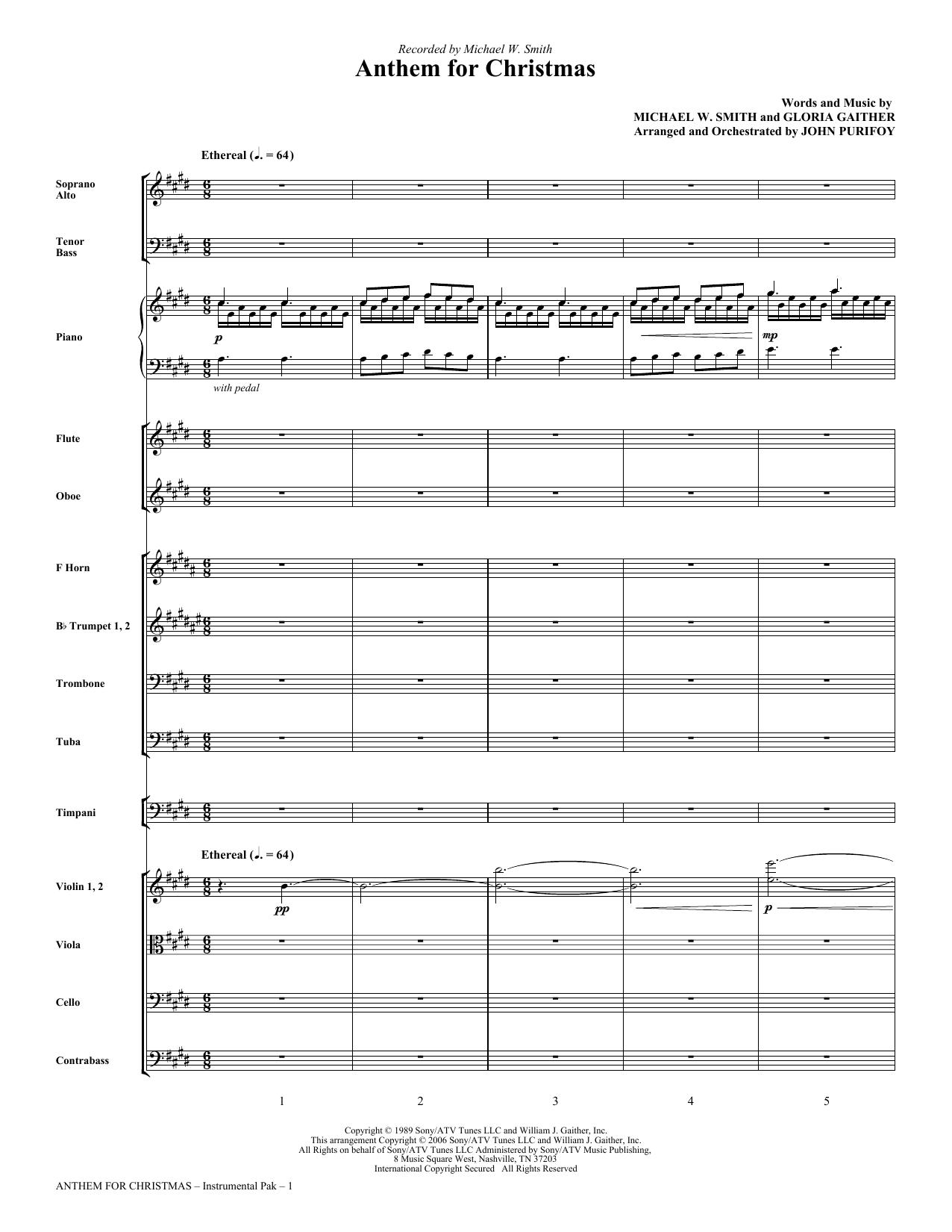 This Christmas Chords.John Purifoy Anthem For Christmas Full Score Sheet Music Notes Chords Download Printable Choral Instrumental Pak Sku 266059