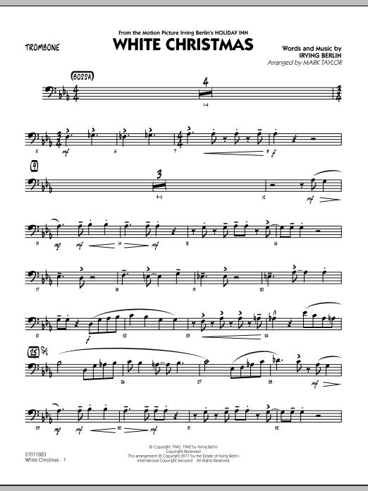 Mark Taylor 'White Christmas - Trombone' Sheet Music Notes, Chords |  Download Printable Jazz Ensemble - SKU: 300741