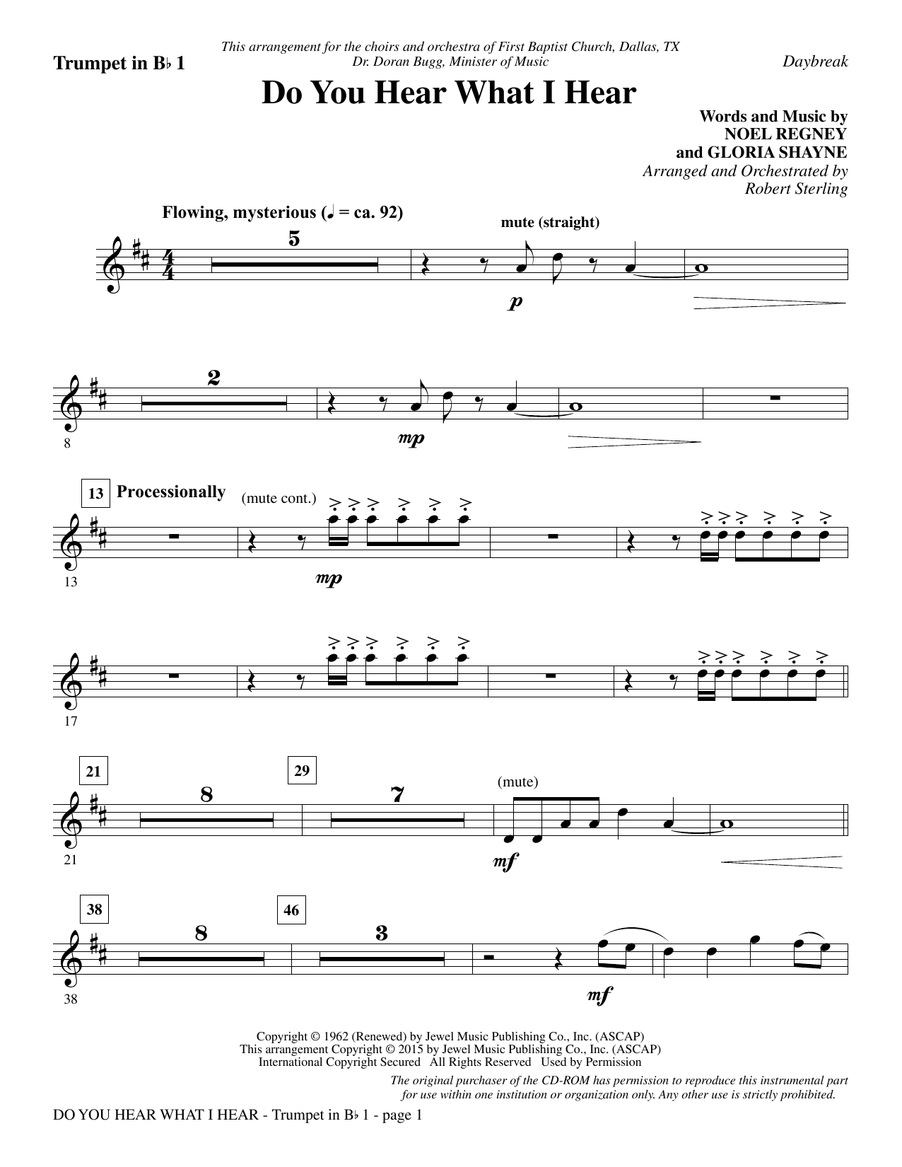 photograph regarding Free Printable Sheet Music for Trumpet named Robert Sterling Do Oneself Pay attention What I Listen - Bb Trumpet 1 Sheet Tunes Notes, Chords Obtain Printable Choral Instrumental Pak - SKU: 342224
