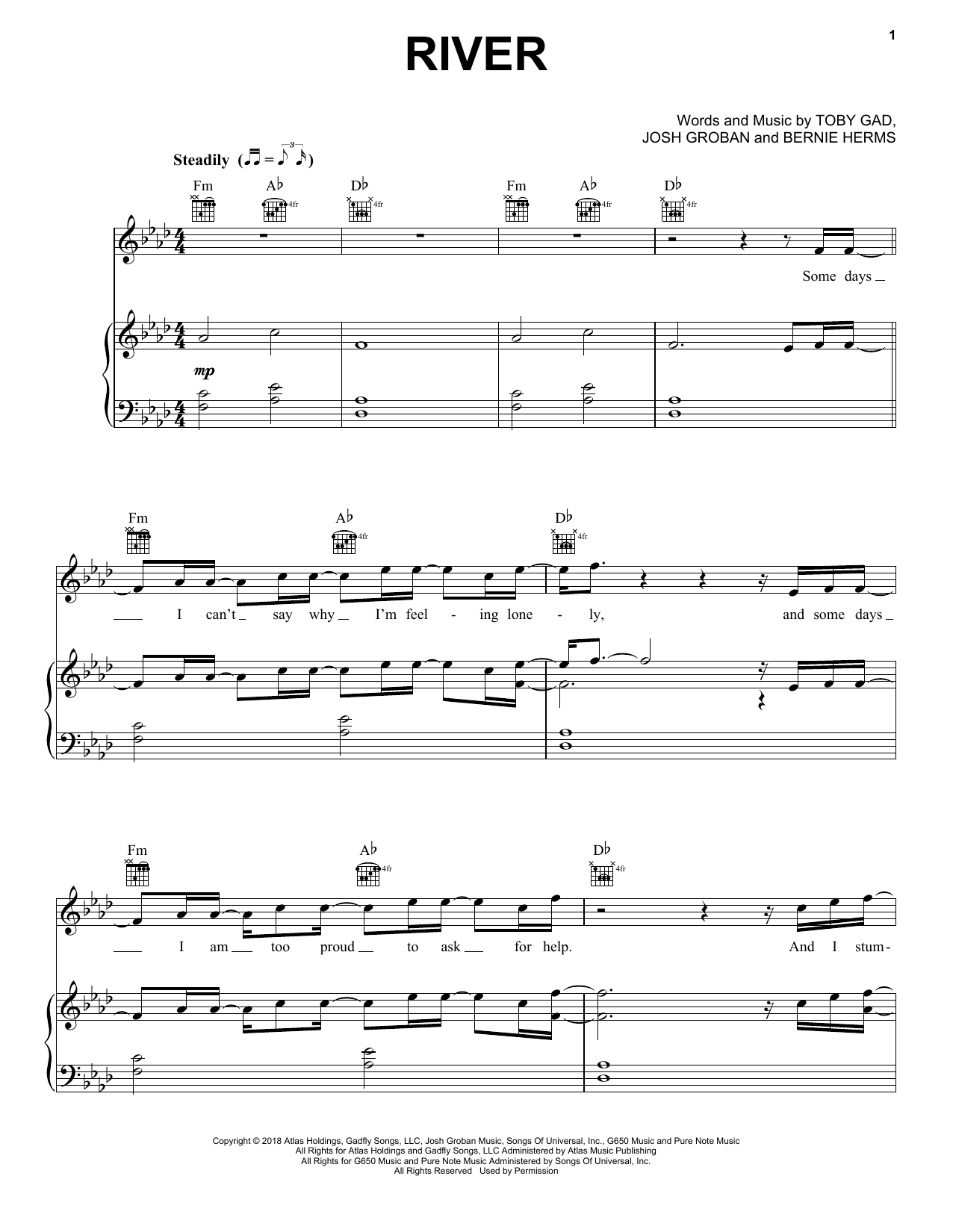 photo about Music Notes Printable identified as Josh Groban River Sheet Tunes Notes, Chords Obtain Printable Piano, Vocal Guitar (Instantly-Hand Melody) - SKU: 404888