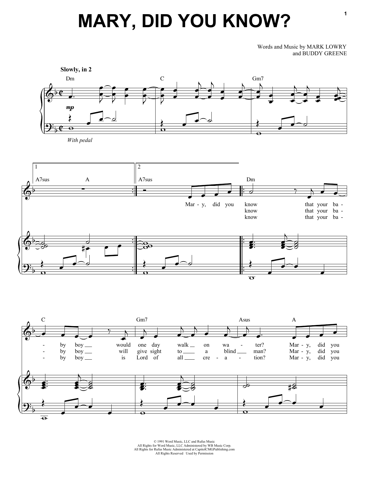 Mary Did You Know Sheet Music Pdf Sportspring