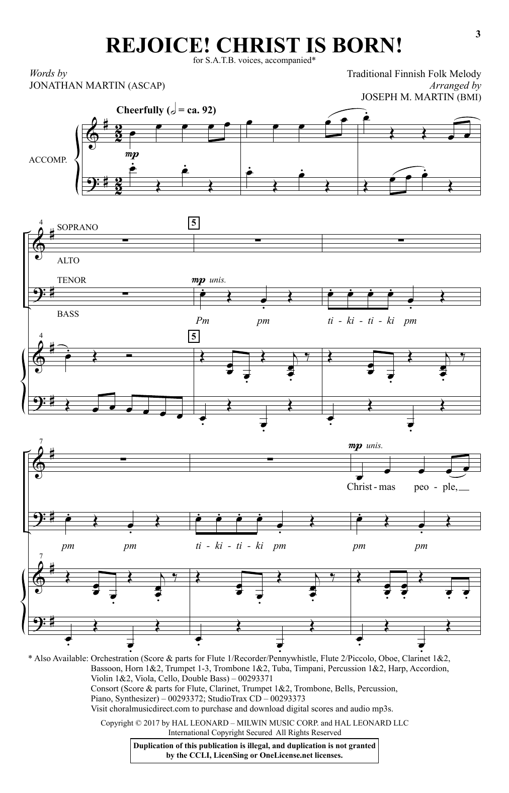 photograph about Printable Christmas Sheet Music named Jonathan Martin Celebrate! Christ Is Born! Sheet Songs Notes, Chords  Obtain Printable SATB Choir - SKU: 411045
