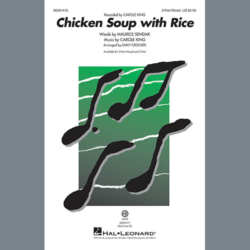 Carole King, Chicken Soup With Rice (arr. Emily Crocker), 3-Part Mixed Choir