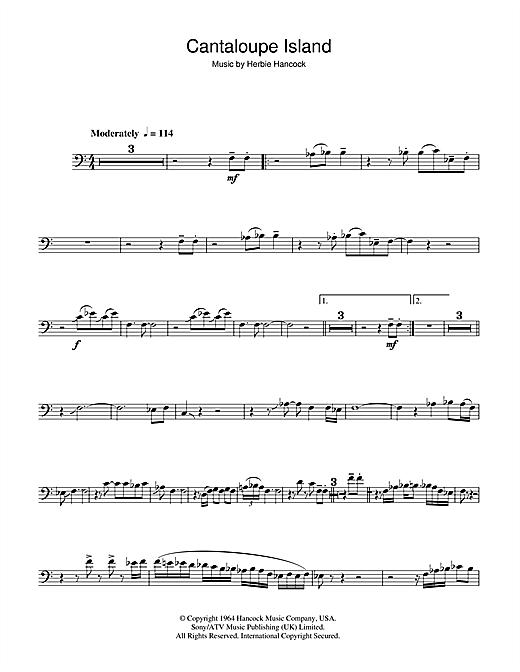 Herbie Hancock 'Cantaloupe Island' Sheet Music Notes, Chords | Download  Printable Trombone - SKU: 46950