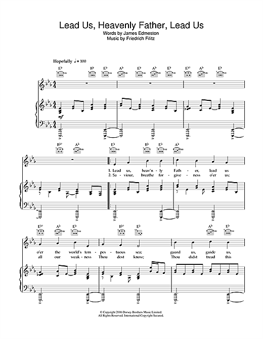 James Edmeston Lead Us Heavenly Father Lead Us Sheet Music Notes Chords Download Printable Piano Vocal Guitar Right Hand Melody Sku