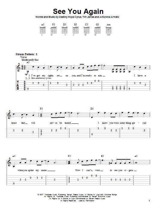 see you again chords