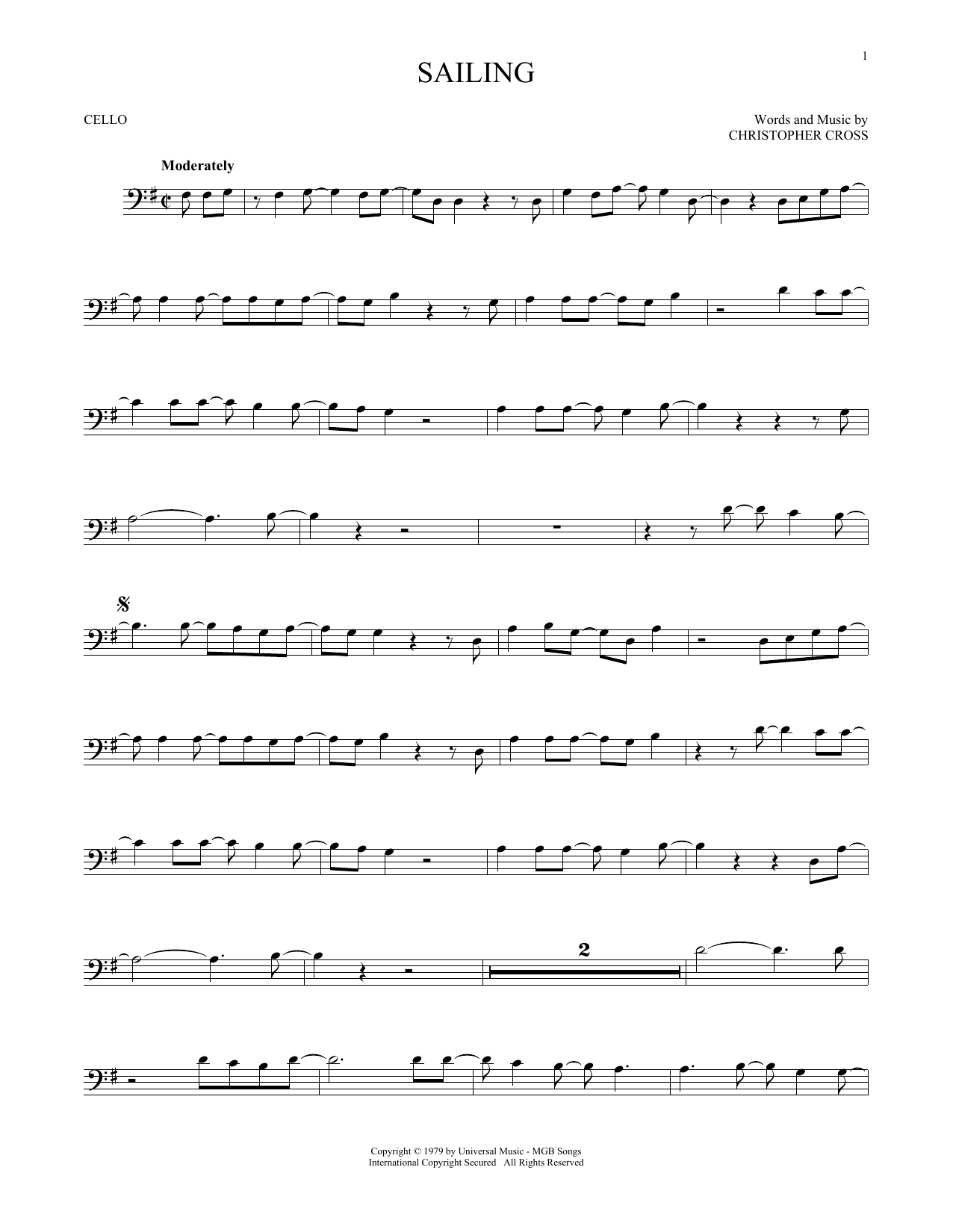Download 'N Sync Sailing sheet music and printable PDF score & Pop music notes