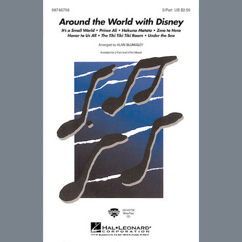 Alan Billingsley, Around The World With Disney (Medley), 3-Part Mixed Choir