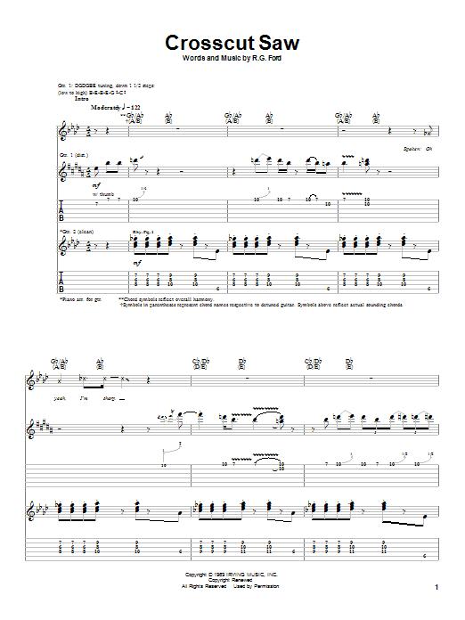 Download Albert King Crosscut Saw sheet music and printable PDF score & Pop music notes