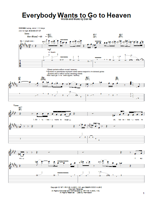 Download Albert King Everybody Wants To Go To Heaven sheet music and printable PDF score & Blues music notes
