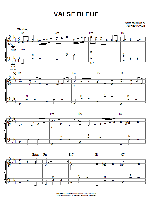 Download Alfred Margis Valse Bleue sheet music and printable PDF score & Classical music notes