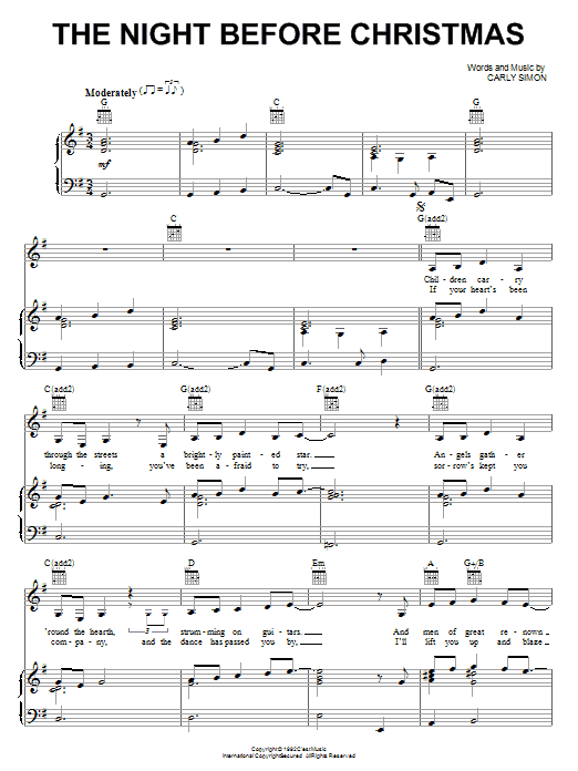 Download Amy Grant The Night Before Christmas sheet music and printable PDF score & Religious music notes
