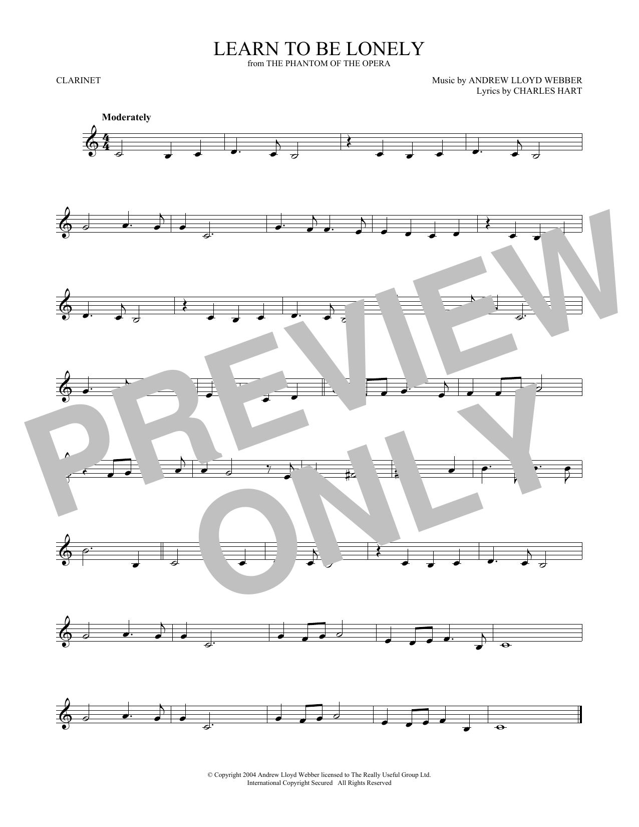 Andrew Lloyd Webber 'Learn To Be Lonely (from The Phantom Of The Opera)'  Sheet Music Notes, Chords   Download Printable Trumpet Solo - SKU: 418921