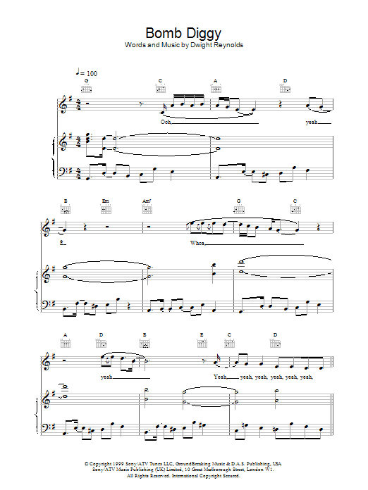 Download Another Level Bomb Diggy sheet music and printable PDF score & Pop music notes