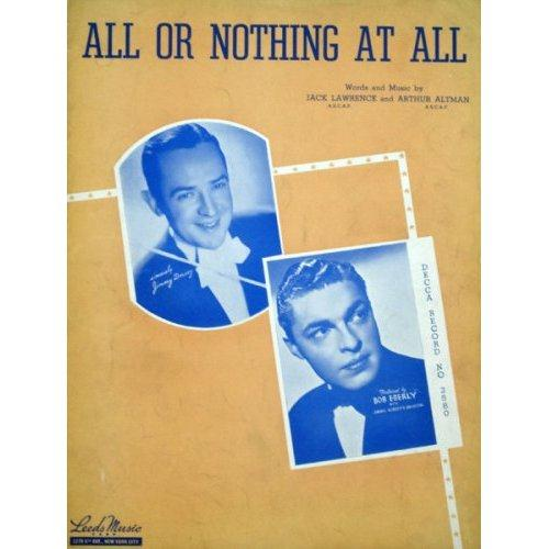 Frank Sinatra, All Or Nothing At All, Piano, Vocal & Guitar (Right-Hand Melody)