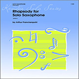 Arthur Frackenpohl Rhapsody For Solo Saxophone Sheet Music and PDF music score - SKU 124773