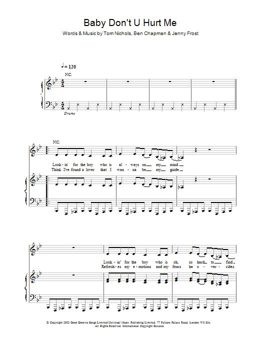 Download Atomic Kitten Baby Don't U Hurt Me sheet music and printable PDF score & Pop music notes