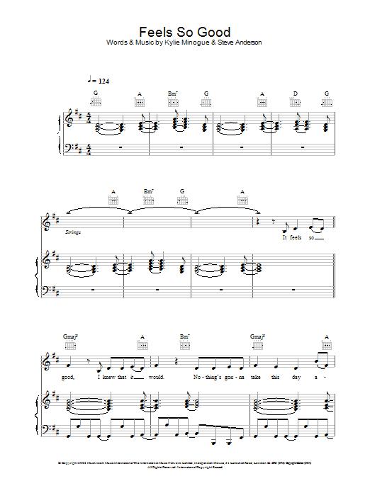 Download Atomic Kitten Feels So Good sheet music and printable PDF score & Pop music notes
