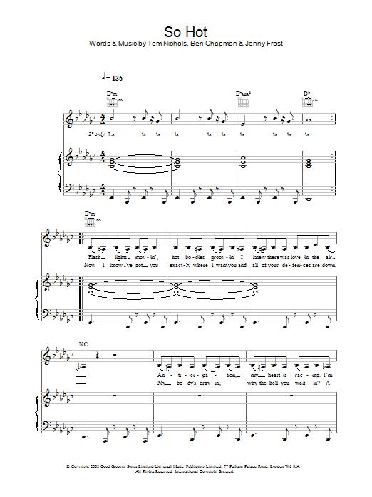 Download Atomic Kitten So Hot sheet music and printable PDF score & Pop music notes