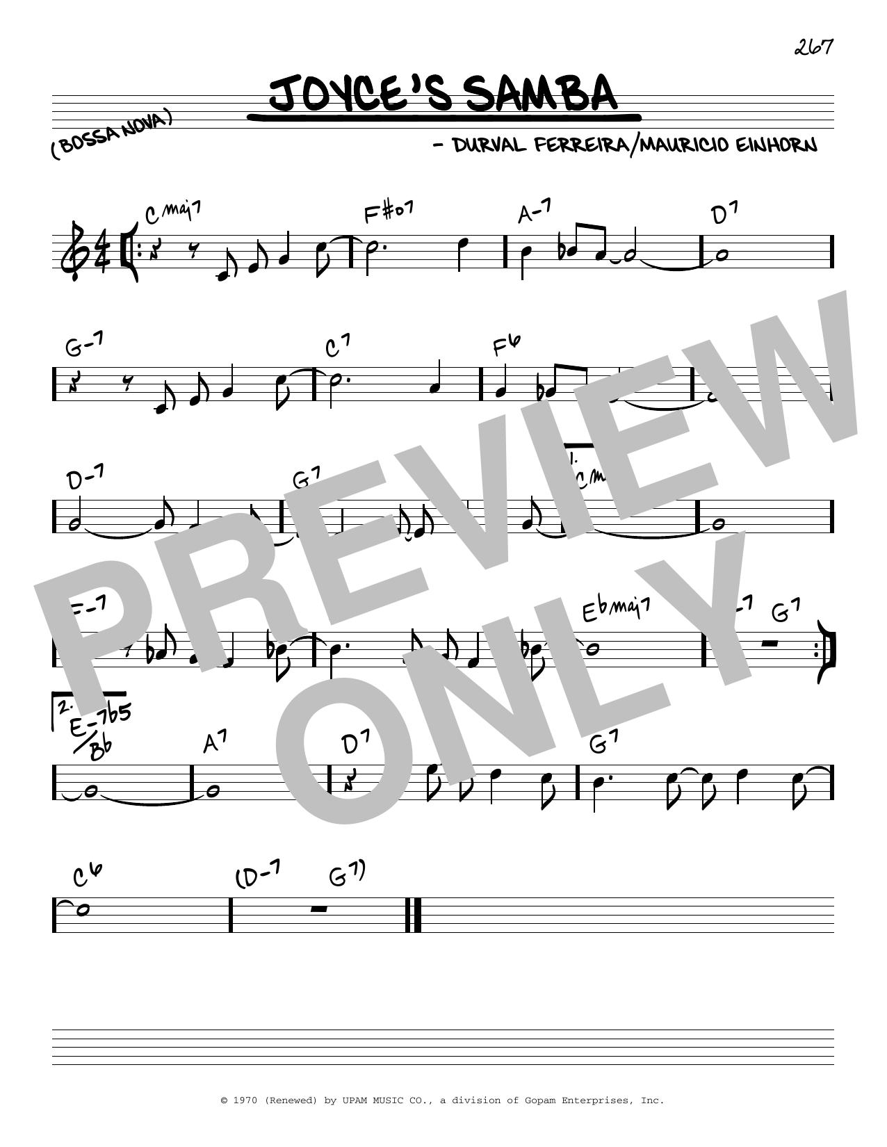 Download Cannonball Adderley Joyce's Samba sheet music and printable PDF score & Jazz music notes