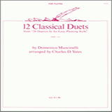 Charles Yates 12 Classical Duets (from 24 Duettos In An Easy, Pleasing Style) Sheet Music and PDF music score - SKU 404471