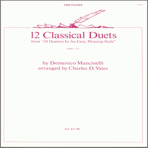 Charles Yates, 12 Classical Duets (from 24 Duettos In An Easy, Pleasing Style), Woodwind Ensemble