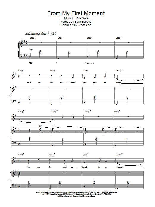 Download Charlotte Church From My First Moment sheet music and printable PDF score & Post-1900 music notes