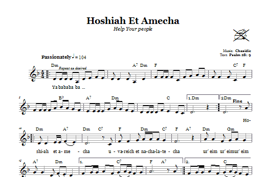 Download Chasidic Hoshiah Et Amecha (Help Your People) sheet music and printable PDF score & Religious music notes