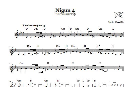 Download Chasidic Nigun 4 (Wordless Melody) sheet music and printable PDF score & Religious music notes