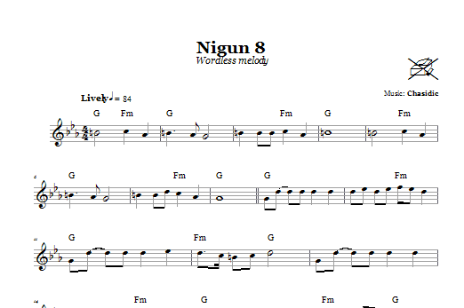 Download Chasidic Nigun 8 (Wordless Melody) sheet music and printable PDF score & Religious music notes