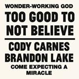 Cody Carnes Too Good To Not Believe (feat. Brandon Lake) Sheet Music and PDF music score - SKU 488185