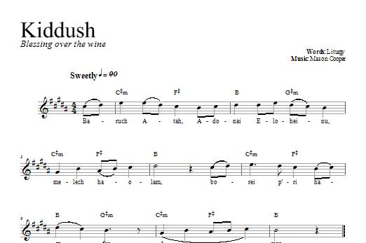 Download Dan Nichols Kiddush sheet music and printable PDF score & Religious music notes
