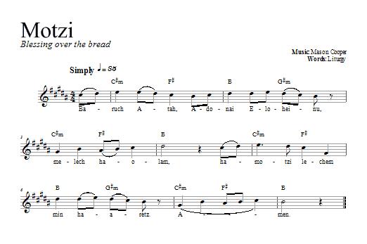 Download Dan Nichols Motzi sheet music and printable PDF score & Religious music notes