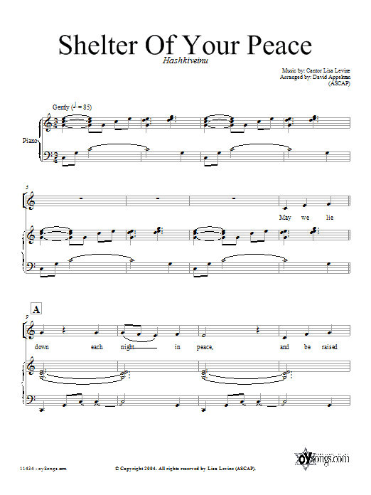Download David Appelman Shelter of Your Peace sheet music and printable PDF score & Religious music notes