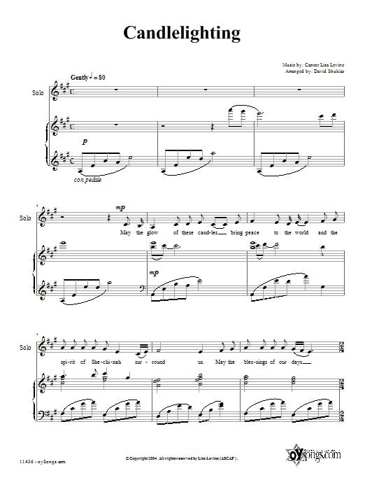 Download David Shukiar Candlelighting sheet music and printable PDF score & Choral music notes