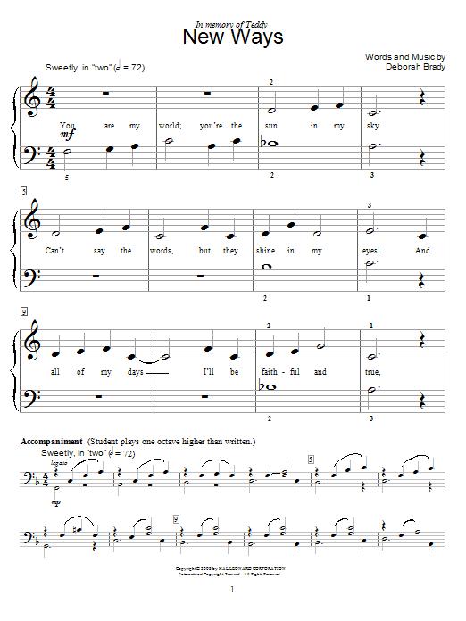 Download Deborah Brady New Ways sheet music and printable PDF score & Children music notes
