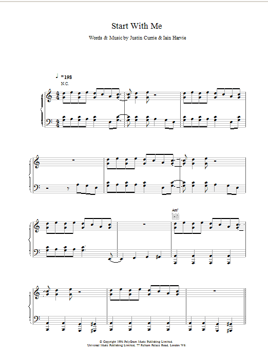 Download Del Amitri Start With Me sheet music and printable PDF score & Rock music notes
