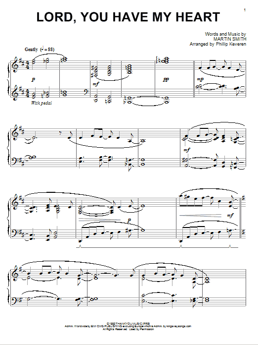 Download Delirious? Lord, You Have My Heart [Jazz version] (arr. Phillip Keveren) sheet music and printable PDF score & Pop music notes