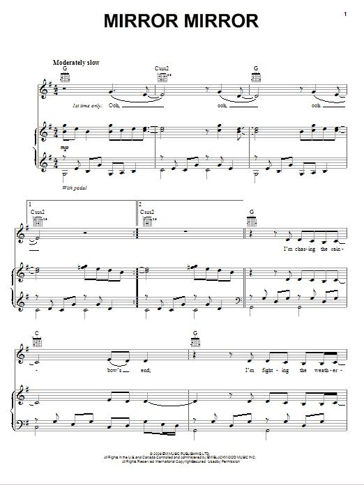 Download Diane Birch Mirror Mirror sheet music and printable PDF score & Pop music notes