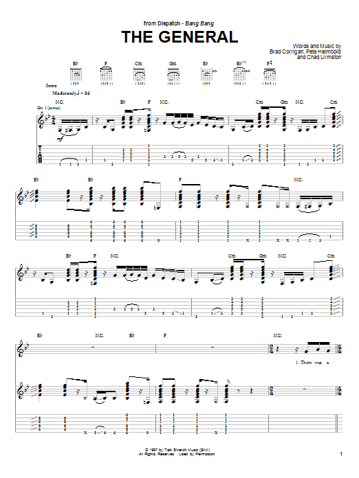 Download Dispatch The General sheet music and printable PDF score & Metal music notes
