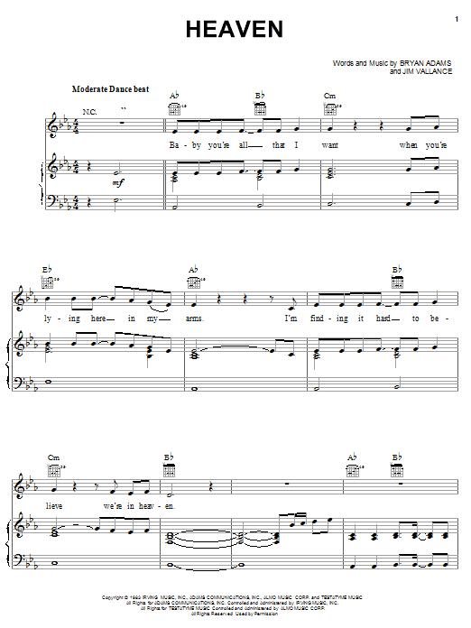Download DJ Sammy Heaven sheet music and printable PDF score & Dance music notes